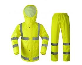 Quần áo mưa CSGT màu phản quang