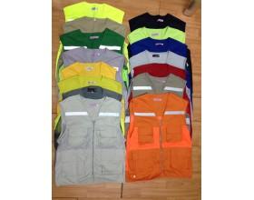 Áo gile lưới có phản quang tổng hợp các màu