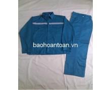Quần áo bảo hộ  màu xanh Lilama có phản quang