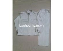Quần áo bảo hộ lao động màu sữa