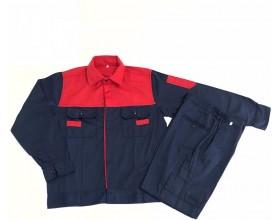 Quần áo bảo hộ phối đỏ - tím than VN01